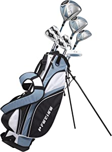 Precise NX460 Ladies Womens Complete Golf Clubs Set Includes Driver, Fairway, Hybrid, 4 Irons, Putter, Bag, 3 H/C's - 2 Sizes - Regular and Petite Size!