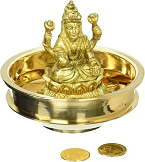 Buy lakshmi lotus pooja coins 1082 online at low prices in india exotic india goddess lakshmi puja kit with 108 coins brass mightylinksfo