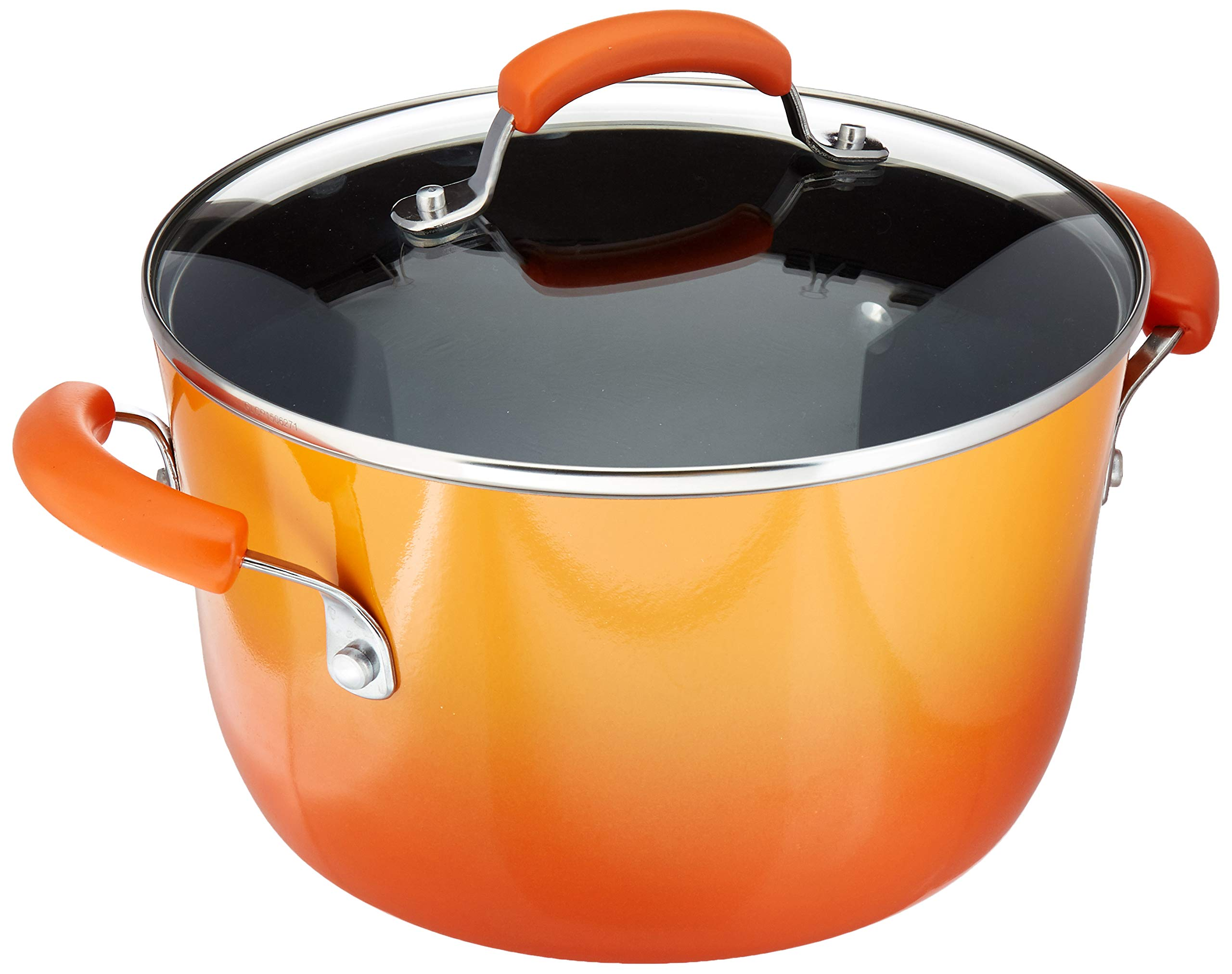 Rachael Ray 16084 Hard Enamel Covered Stockpot 6 Quart Orange Gradient