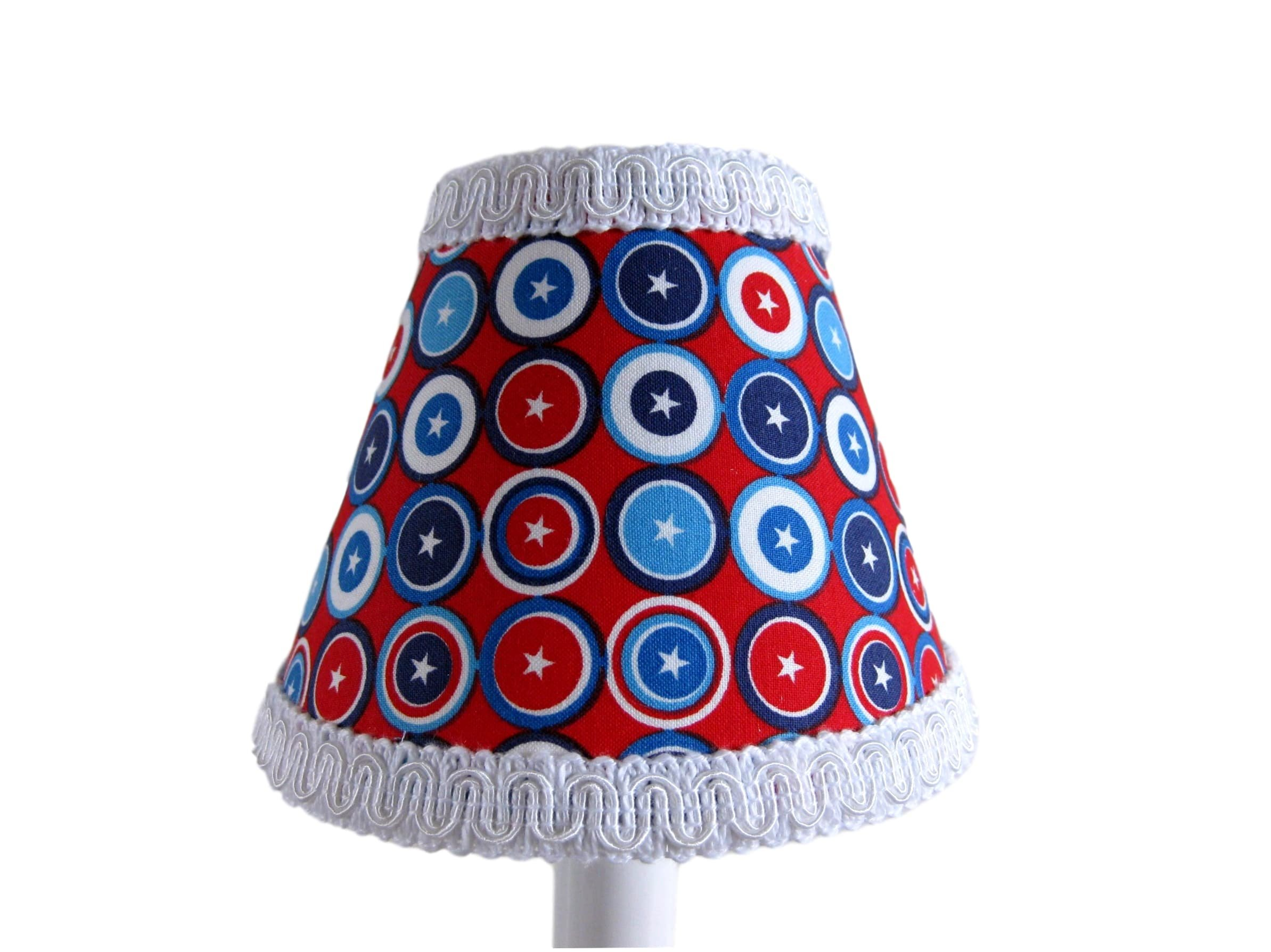 Silly Bear Lighting Captain America Lamp Shade, Red/Blue by Silly Bear Lighting