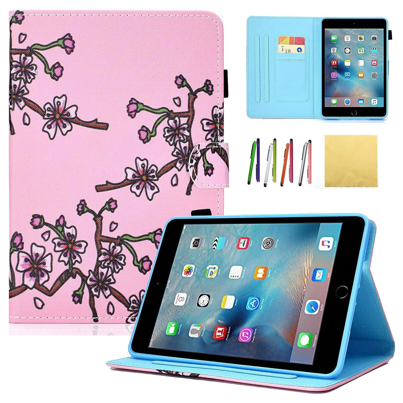 2019超人気 Dteck B07KTRP72D iPad Mini 4ケース、キラキラフリップスタンドケーススマートフォリオブックスタイルケース、ウェイク Mini 20.1/スリープ機能付きiPad Mini 20.1 cm、第4世代プラムブロッサムタブレット B07KTRP72D, 家具のHirayama:6e82ec55 --- a0267596.xsph.ru