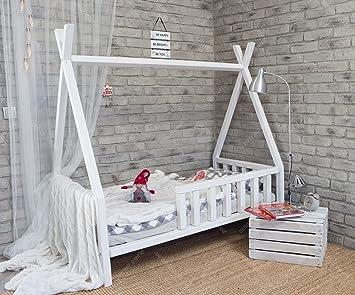 Oliveo Kinder Bett Tipi Kinderhaus Indianer Zelt Massivholz