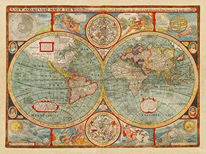 A New And Accvrat Map Of The World 1626.World 1626 A New And Accvrat Map John Speed Amazon Co Uk
