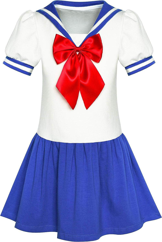 Sunny Fashion Vestido para niña Marinero Luna Cosplay Uniforme ...