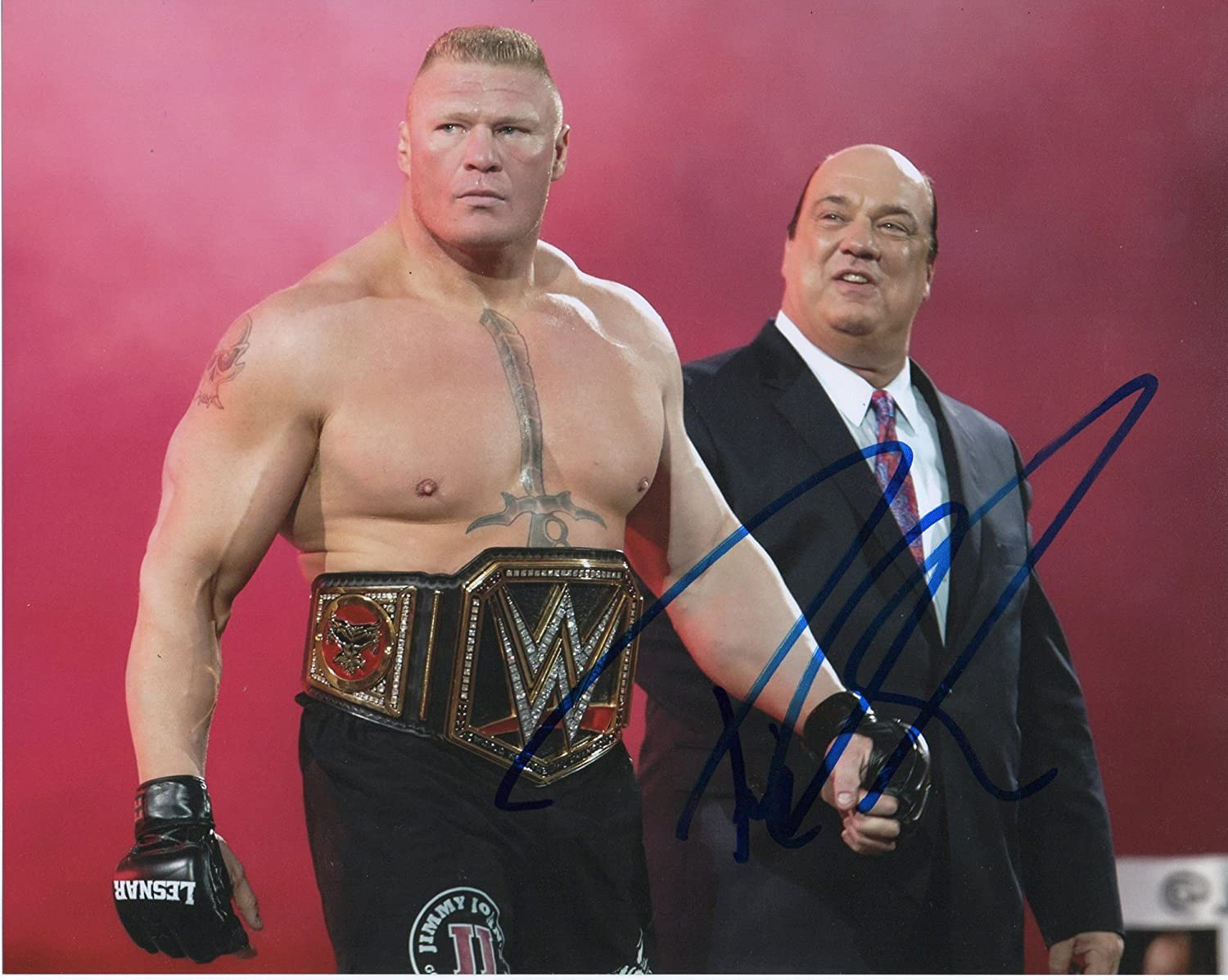 Paul Heyman Autographed 8x10 photograph WWE Raw Superstar Manager Advocate
