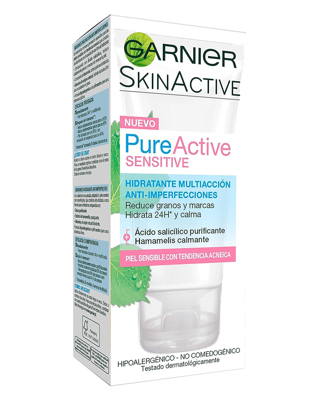 Crema hidratante de Garnier para pieles sensibles y el dia a dia.
