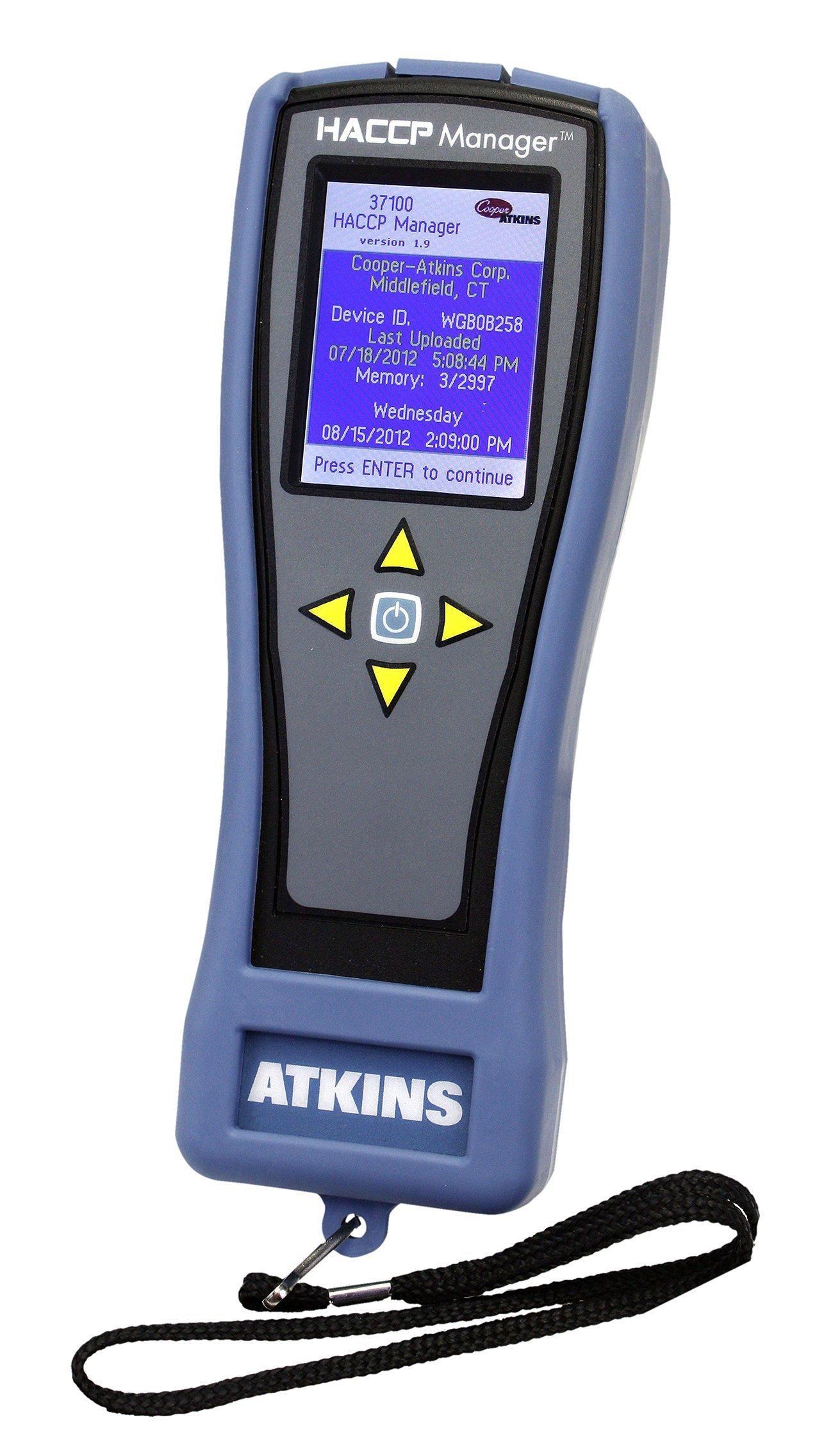 Cooper-Atkins 37100 Waterproof HACCP Manager Handheld Instrument, NSF Certified, -99.9° to 999.9°F Temperature Range