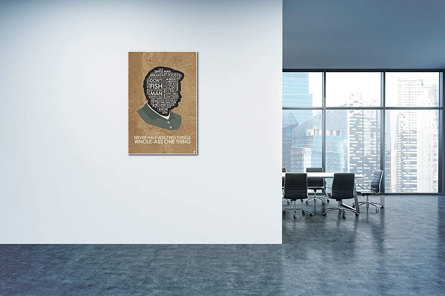 Amazon.com: Parks & Recreation. Ron Swanson: Never Half-Ass Two Things. Art Print Poster (24