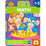 School Zone - Big Math Workbook - Ages 6 to 8, 1st Grade, 2nd Grade, Addition, Subtraction, Word Problems, Time, Money, Fract