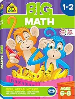 School Zone Big First Grade Workbook Ages 6 7 Basic Math
