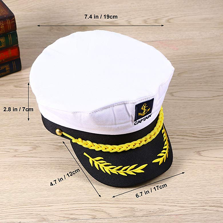White Navy Sailor Hat Marine Costume Cap Child Adult Accessories Cosplay Props
