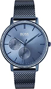 Hugo Boss Blue Womens Quartz Watch, Analog Display and Stainless Steel Strap 1502518