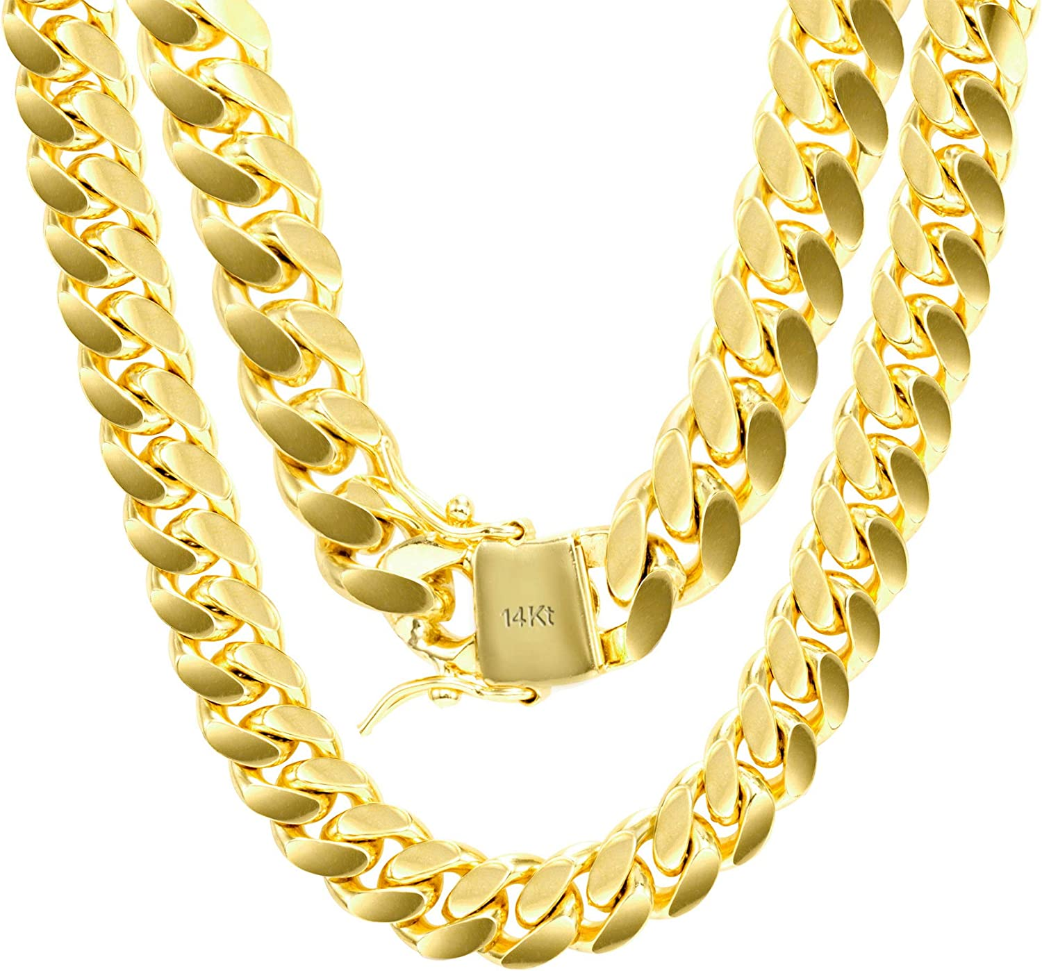 Cross Charm Gold Plated Piece Pendant Cuban Chain Necklace Jewelry 011