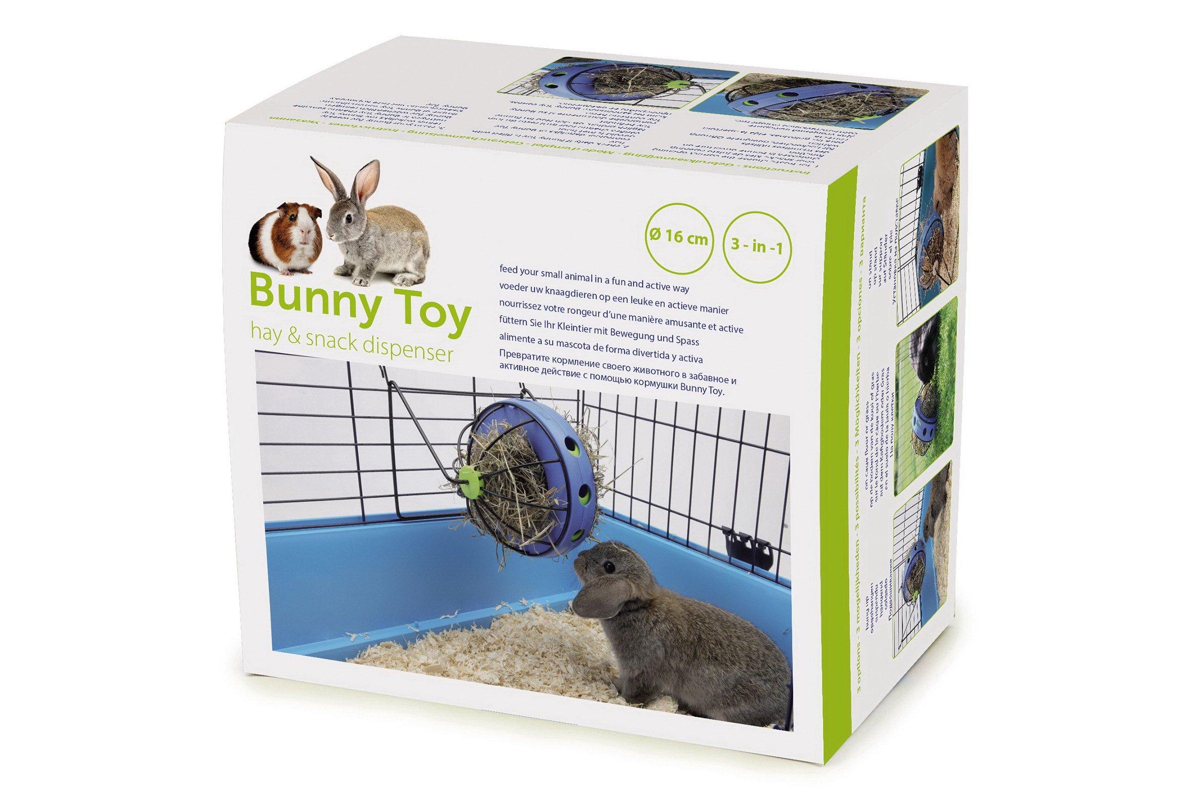 Savic 0195 Bunny Toy Ø 16 cm, Blue-Black