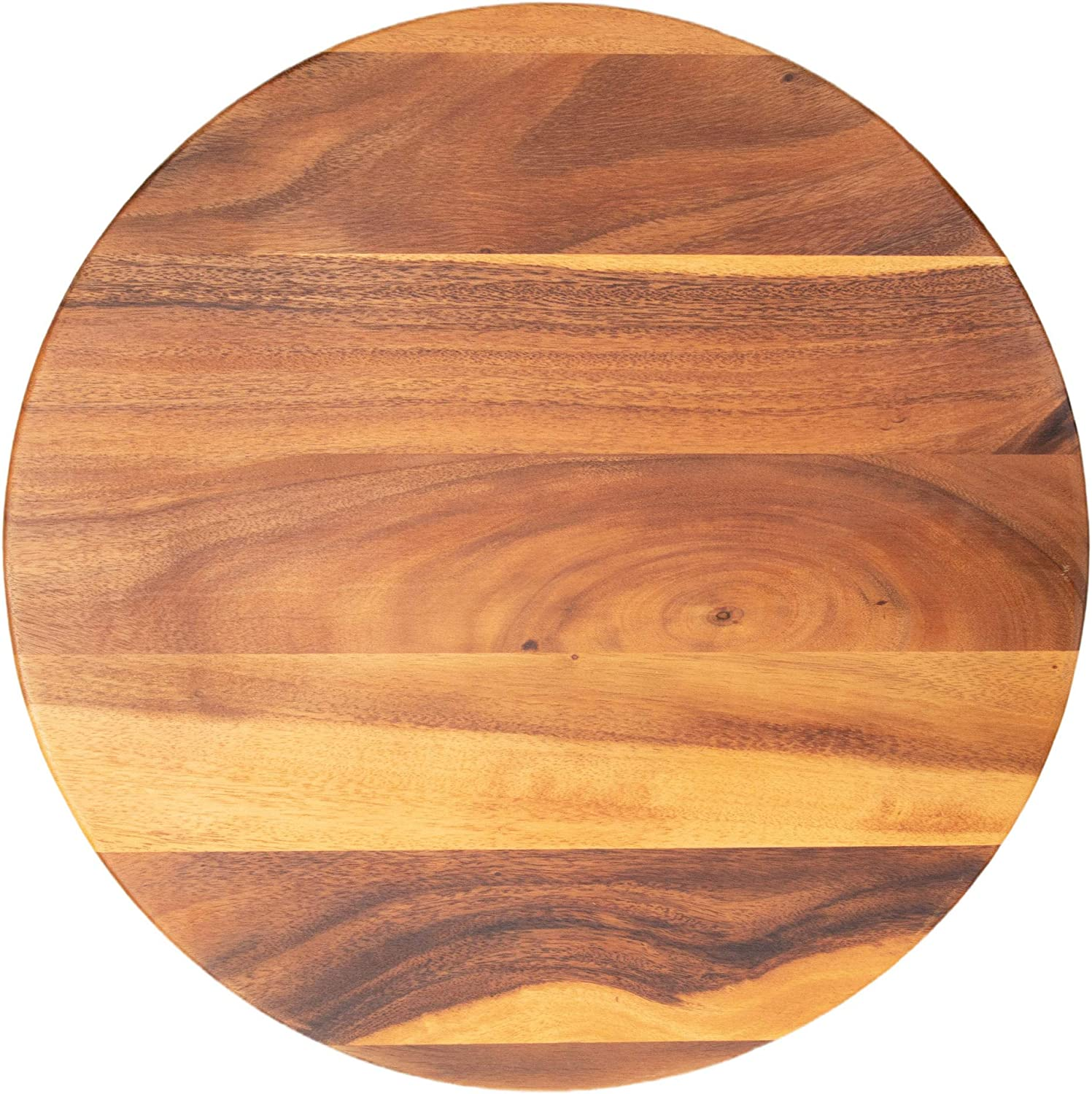 """Villa Acacia Large Lazy Susan 22"""" Wood Turntable for Table, Cabinet and Kitchen"""