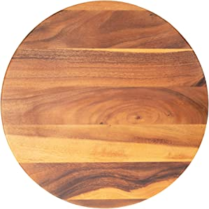 "Villa Acacia Large Lazy Susan 22"" Wood Turntable for Table, Cabinet and Kitchen"