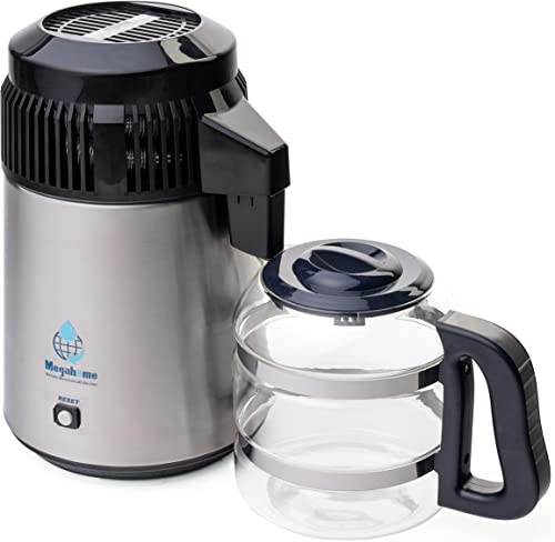 Megahome Nutriteam Countertop Water Distiller Stainless, Glass Collection