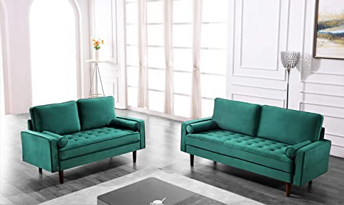 Container Furniture Direct Hazen Love Seats, Brown