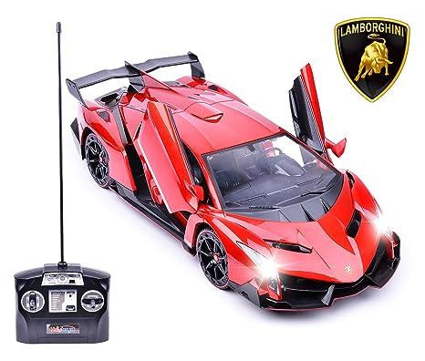 Amazon Com Haktoys Licensed Lamborghini Veneno Roadster 1 14 Scale