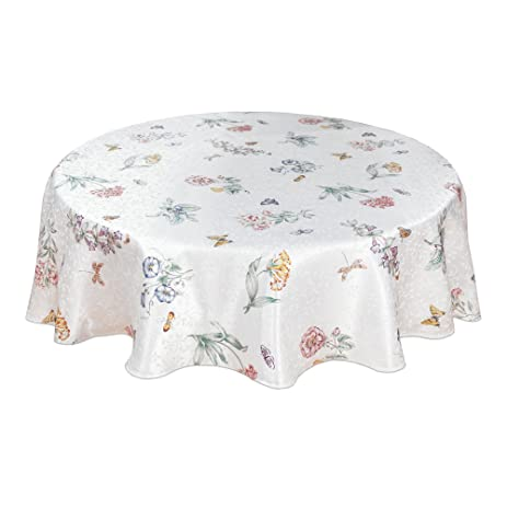 amazon com lenox butterfly meadow 70 inch round tablecloth home