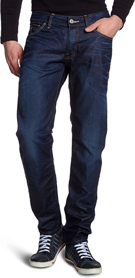 TALLA 38W / 36L. G-STAR RAW 3301 Low Tapered Jeans para Hombre