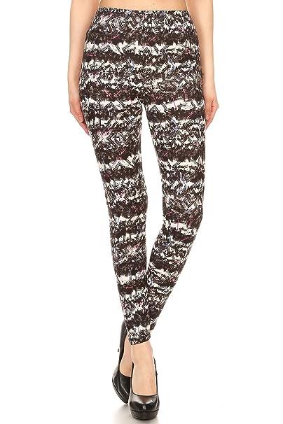 5c6d6082dac209 Expert Design Women's Regular Abstract Chevron Pattern Printed Leggings