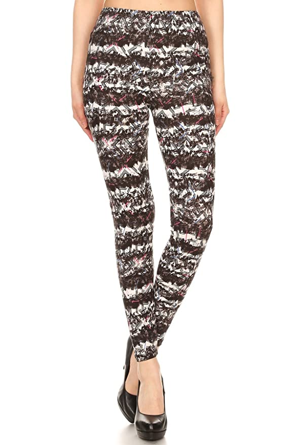 d32bf45df9edc3 Amazon.com: Expert Design Women's Regular Abstract Chevron Pattern Printed  Leggings: Clothing