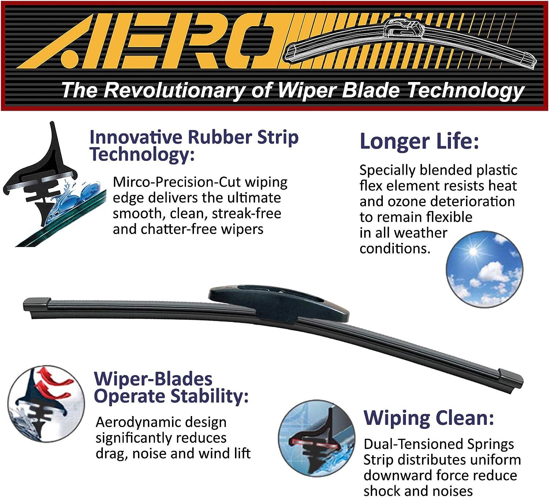 OEM QUALITY 24 Set of 2 22 AERO Premium All-Season Windshield Wiper Blades