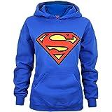 Superman - Felpa con Cappuccio e Logo - Donna