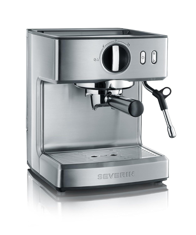 Severin KA 5990 - Cafetera espresso, acero inoxidable, 1200 W