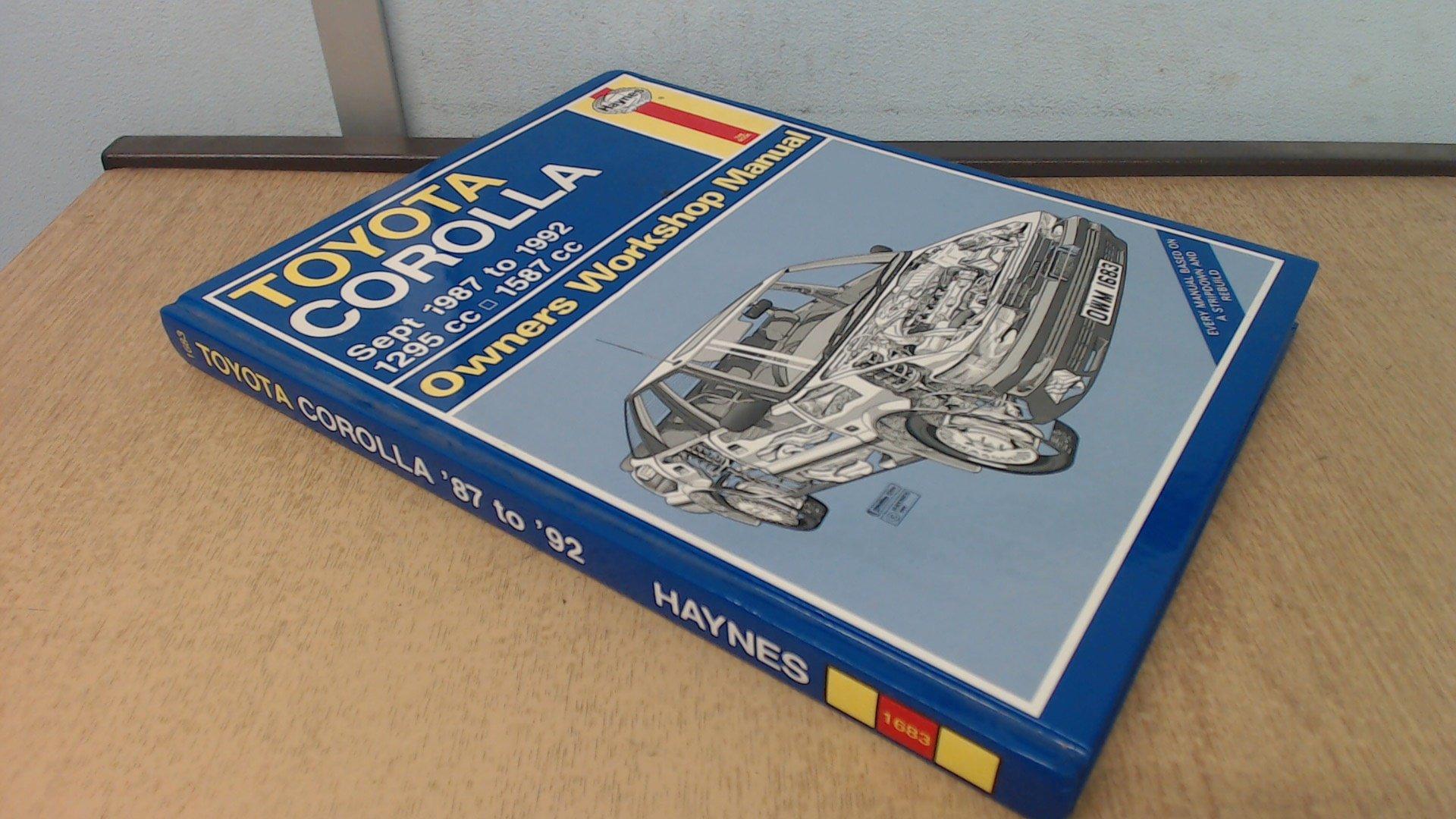 toyota corolla 1987 92 owner s workshop manual service repair rh amazon com Toyota Corolla Maintenance Toyota Corolla Service Diagrams