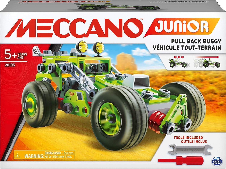 MECCANO Junior, 3 en 1 Deluxe Pull Back Buggy Steam Kit de construcción para niños a Partir de 5 años