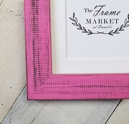 Amazon.com: Distressed Pink Wood Picture Frame 5x7, 8x10, 11x14 ...
