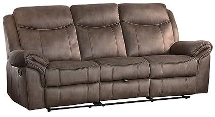 Amazon Com Homelegance Aram 87 Double Reclining Sofa Manual