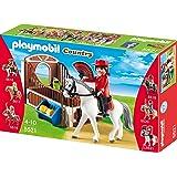 PLAYMOBIL 5521 - Andalusier mit weiß/brauner Pferdebox