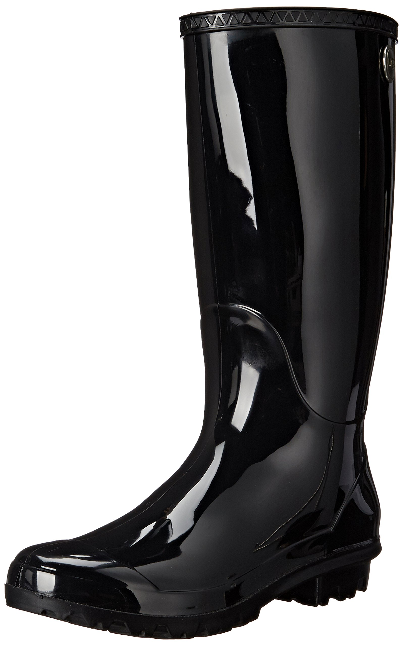 UGG Women's Shaye Rain Boot, Black, 8 B US