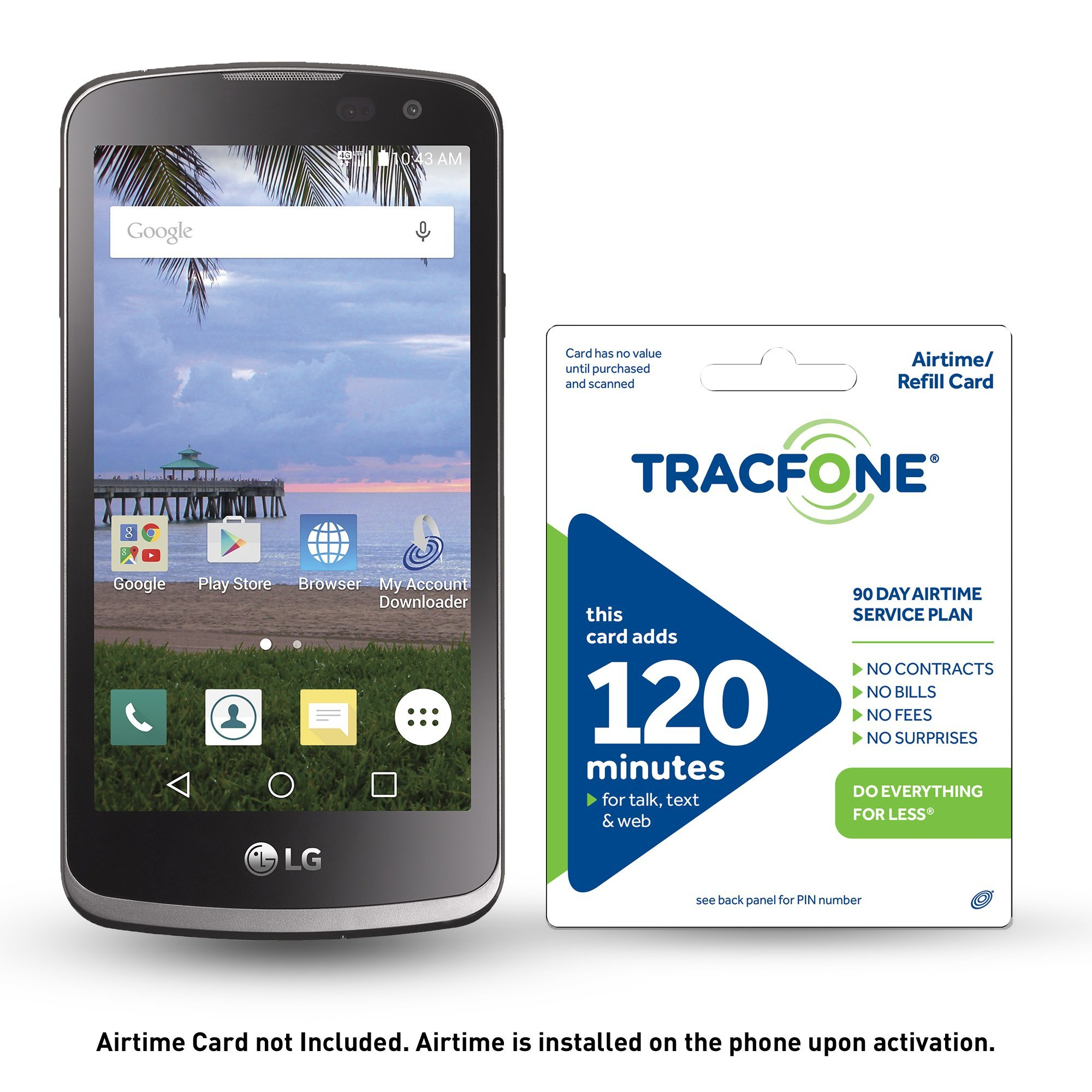 TracFone LG Rebel 4G LTE Prepaid Smartphone with Free $30 Airtime installed in phone by TracFone (Image #1)