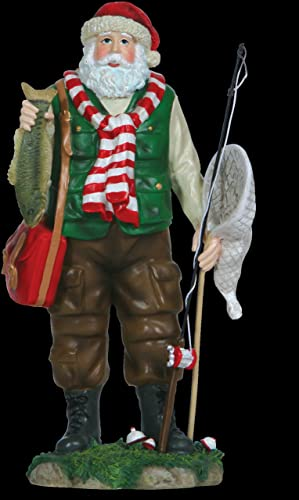 Pipka 22207 Lake Fisherman Santa Figurine