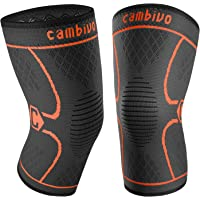 2-Pack Cambivo Knee Brace (Black/Orange)