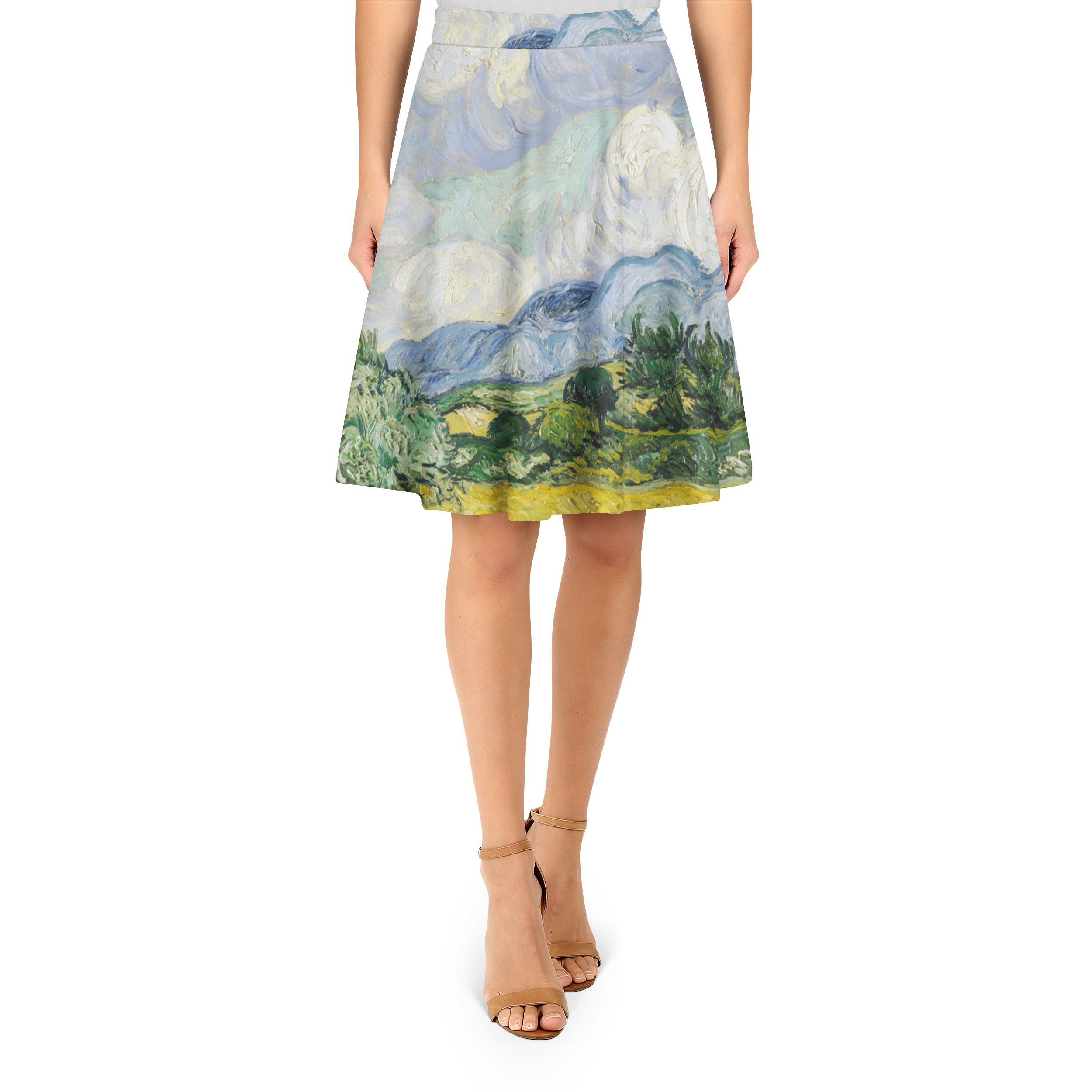 Vincent Van Gogh Fine Art Painting A-Line Skirt - 2XL