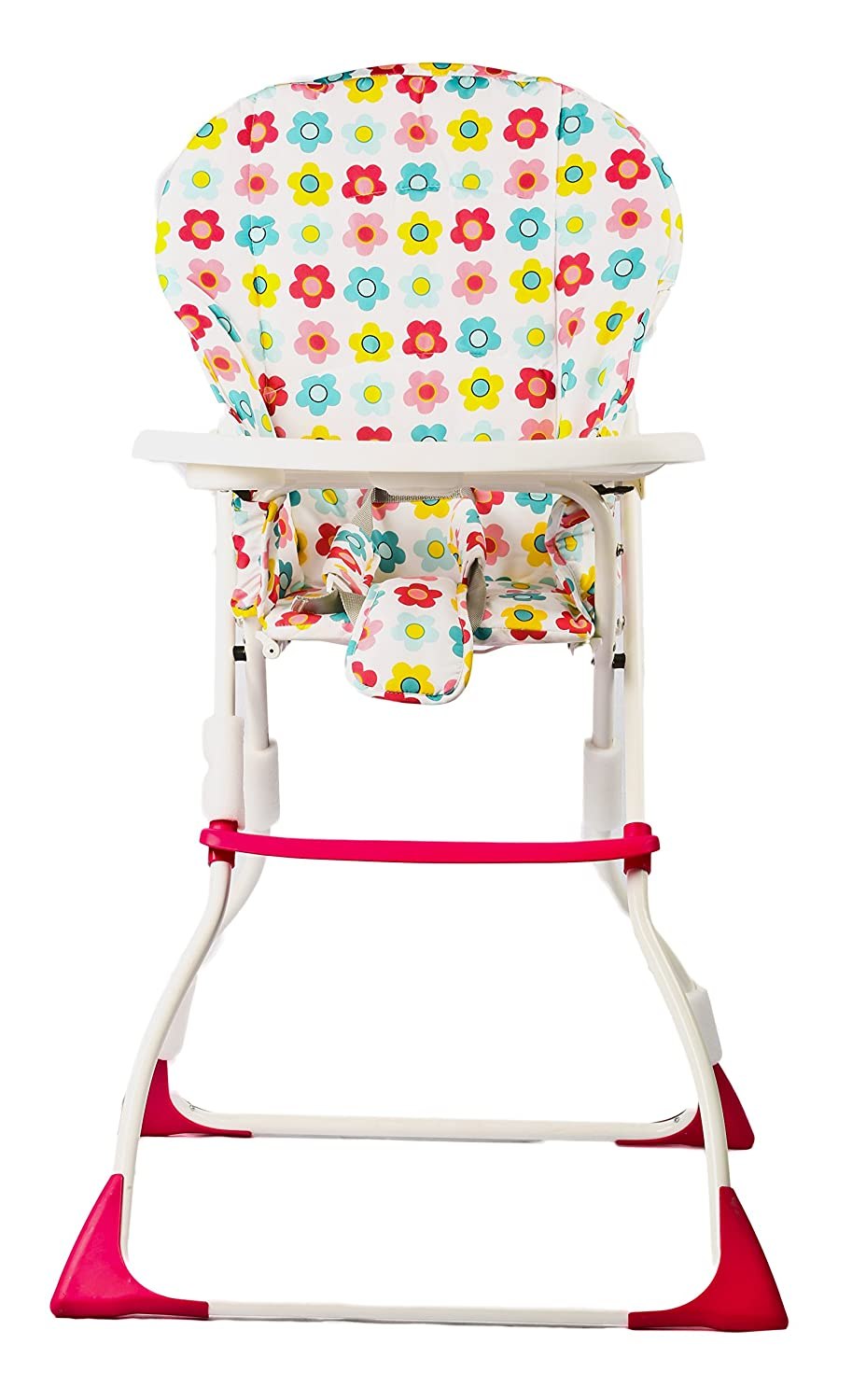 BAYBEE Plastic Baby High Chair, 63x51x97cm (Pink)