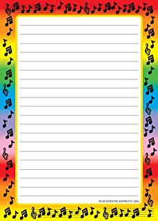 product image for Music Border Large Lined Notepad