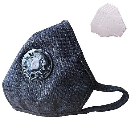 Máscara antipolución Lyanty Grado militar Máscara N99 Máscaras de boca lavables de algodón con filtro reemplazable