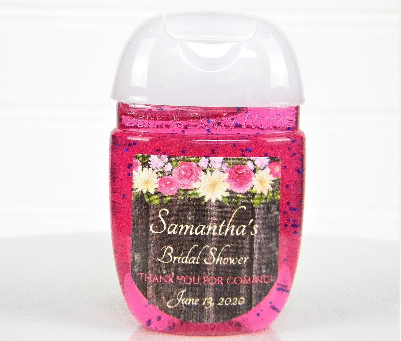 Baby Shower Labels Favor Labels Bridal Shower Personalized Stickers Blush Floral Labels Wedding Shower Personalized Labels Size