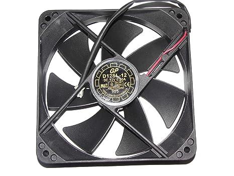 Amazon.com: Ventilador de 12 cm D12SH-12 12 V 0,3 A 2 Wire ...