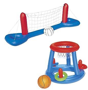 Bestway Juego de Juguetes para Piscina, Red de Voleibol ...