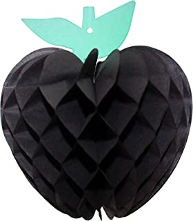 product image for 3-Pack 7 Inch Honeycomb Paper Apple Decoration, Black