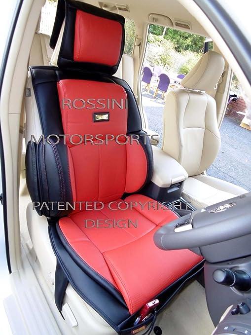 Citroen C4 Grand Picasso Asiento de coche cubre YS 06 negro + rojo Rossini Motorsports PVC