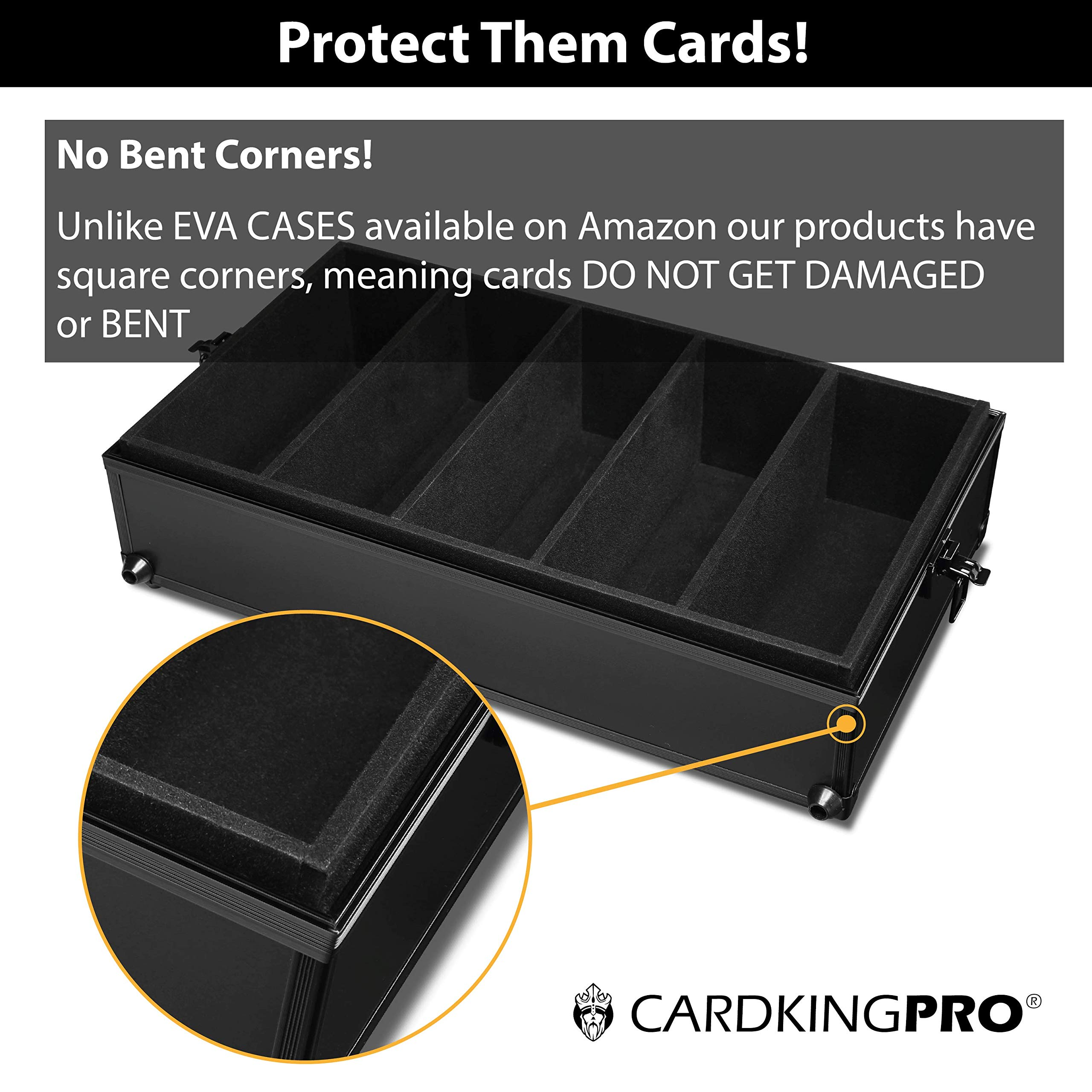 Game Card Storage Case (BBB Edition) | Case is Compatible with Magic The Gathering, MTG, All Standard Card Games (Game Not Included) | Includes 8 Dividers | Fits up to 2500 Loose Unsleeved Cards by CardKingPro (Image #6)