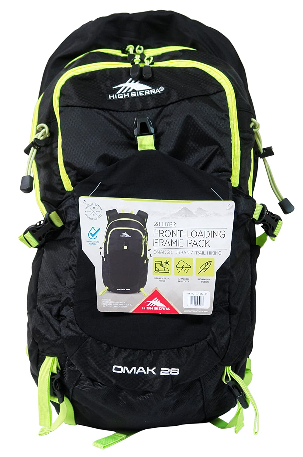 High Sierra 28 Liter Front-Loading Frame Pack - OMAK 28 Urban/Trail Hiking Hydration Access Ready
